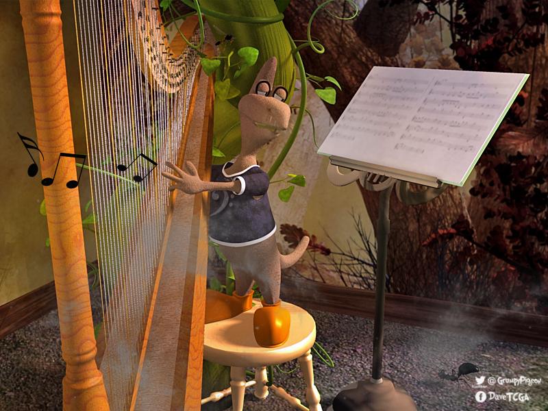 03-15-Thingy Playing Harp by Stezza.jpg