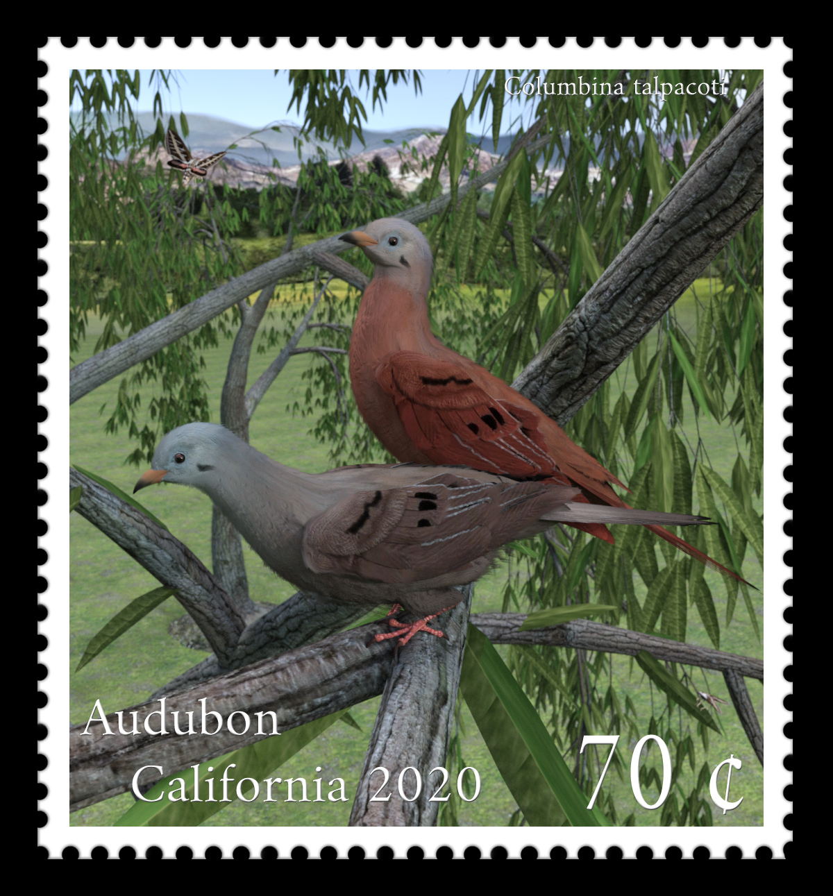 First Place Audubon California postage stamp by mininessie.jpg