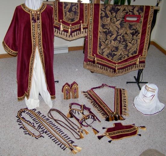 Wine Arabian horse Native Costume.jpg