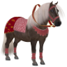 Medieval Textures for the Shetland Santa outfit