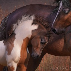 Mare And Foal By CWRW