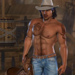 Rodrigo Cowboy Pin Up