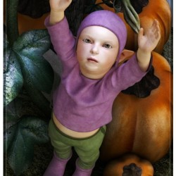 Pumpkin Patch Baby by Satira