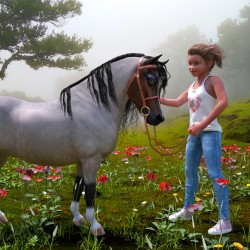Skylar and her pony