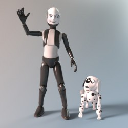 Boy Bot and his Toy Dog :)