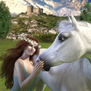 The horse and the maiden.jpg