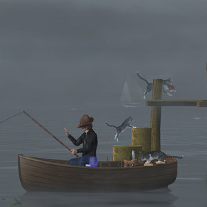 Going Fishing - The Thief by cinadisilver