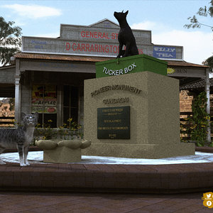 Dog On The Tuckerbox by Stezza