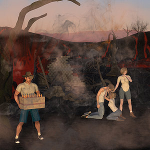 All In Wildfires Burning by Glitterati3D