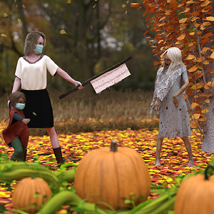 Fifth Place - Picking Pumpkins Six Feet by Phoenix