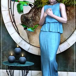 Maya In Blue By Satira Capriccio