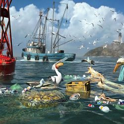 Honorable Mention - Surviving The Garbage Tide By DigitalArt4U