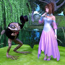 Thumbelina And The Frog