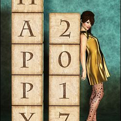 Third Place: Happy New Year by Margy