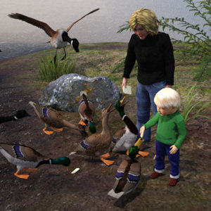 Feeding the Ducks by Anniemation.jpg