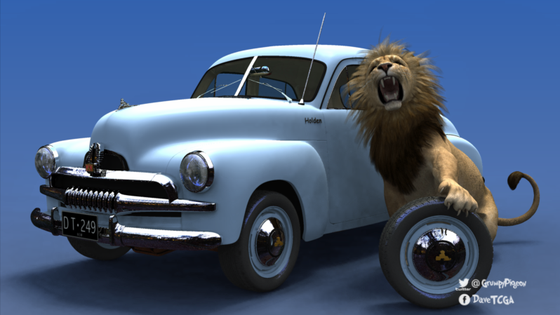 FJ Holden With Lion